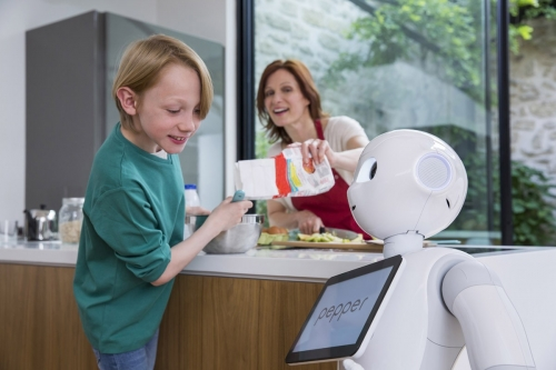 Photographie lifestyle dans une cuisine réalisée pour l'agence Toma. Annonceur : SoftBank Robotics. DA : Aurélien Esquivet. | Philippe DUREUIL Photographie